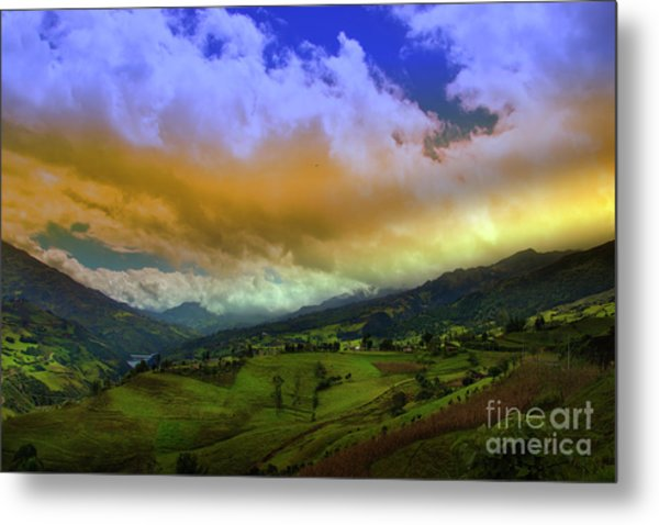 Great View North Of Paute Iv Metal Print