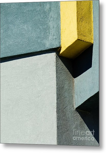Green And Yellow Abstract Metal Print