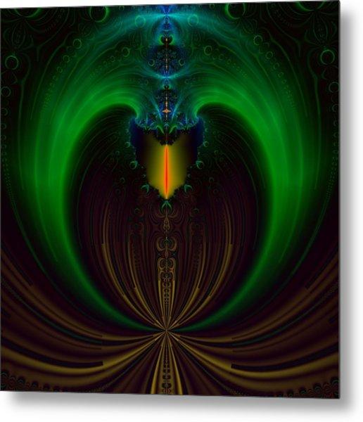 Green Candle Metal Print by Sfinga Sfinga