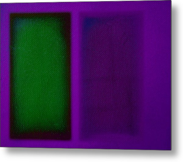 Green On Magenta Metal Print