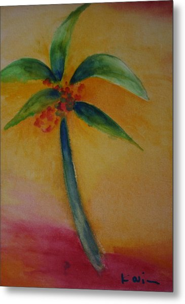 Green Palm Metal Print