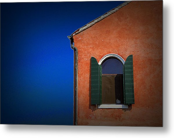 Green Shutters Metal Print by James Zuffoletto