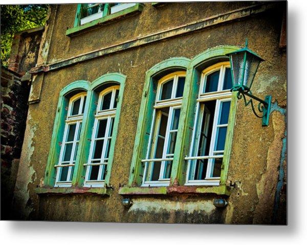 Green Windows Metal Print