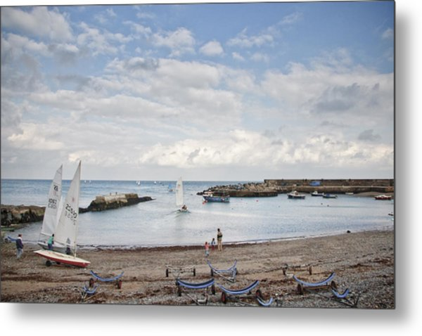 Greystones Harbour With Yachts Metal Print by Gary Rowe