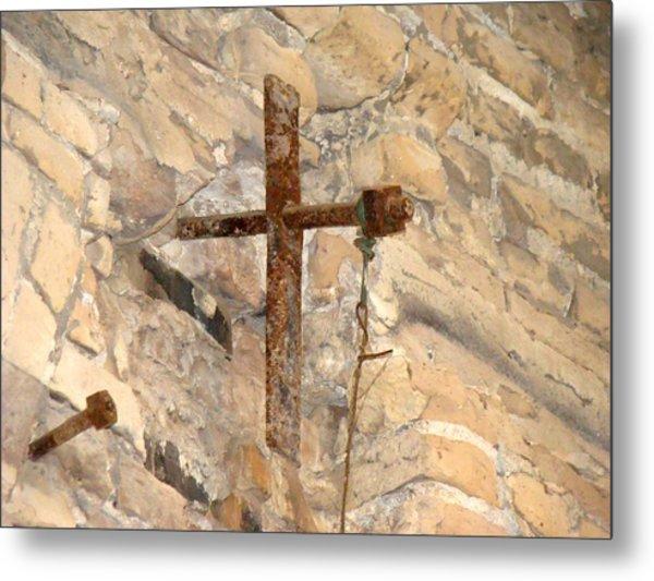 Gristmill Cross Two Metal Print by Ana Villaronga