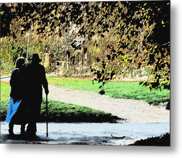 Grow Old With Me Metal Print