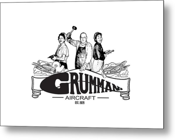 Grumman Aircraft Est 1929 Metal Print