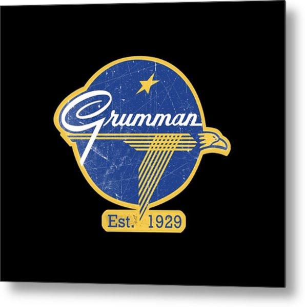 Grumman Est 1929 Distressed Metal Print