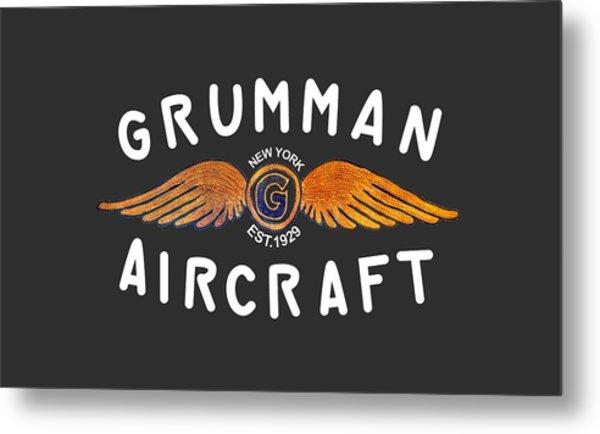 Grumman Wings Gold Metal Print