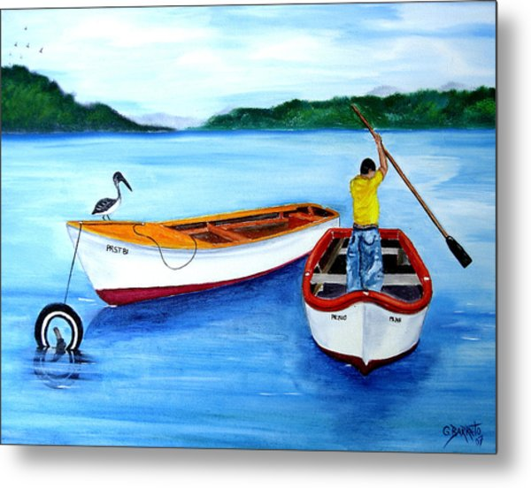 Guanica Fisherman Metal Print
