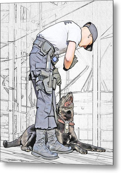 Guarding The City Metal Print