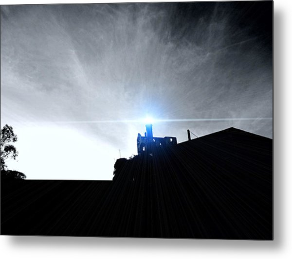 Guiding Light-alcatraz Metal Print