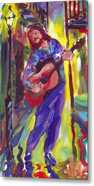 Guitar Solo Metal Print by Saundra Bolen Samuel