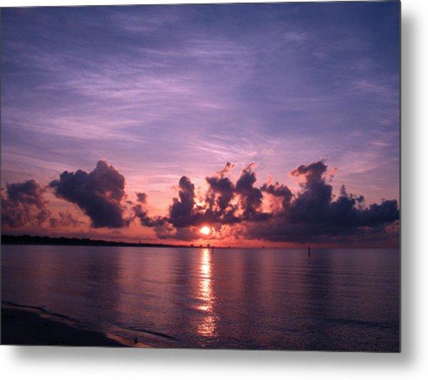 Gulf Coast Sunrise Metal Print