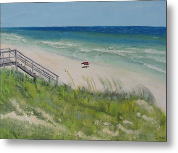 Gulf View From Dune Metal Print by John Terry