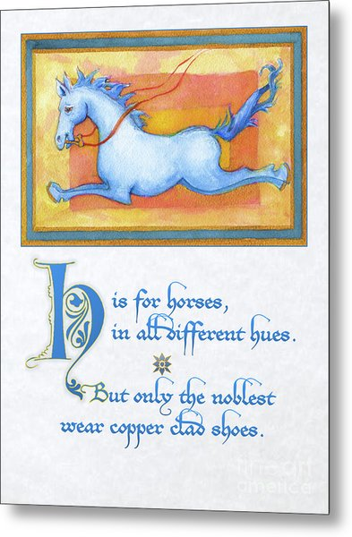H Is For Horses Metal Print