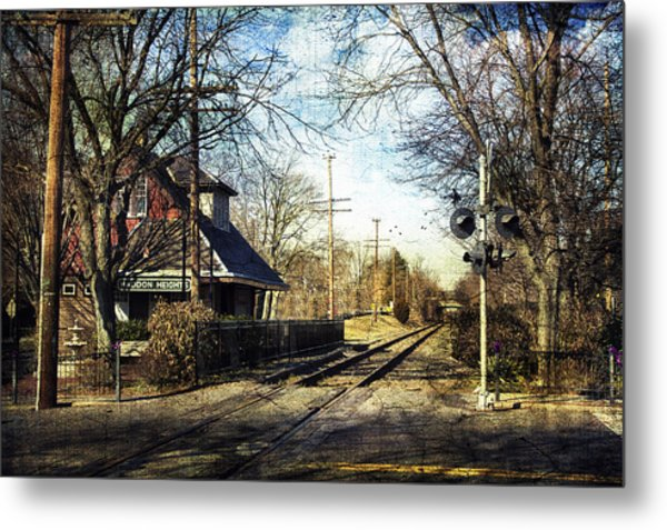 Haddon Heights Train Station Metal Print