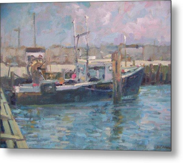 Hampton Bays Marina Metal Print