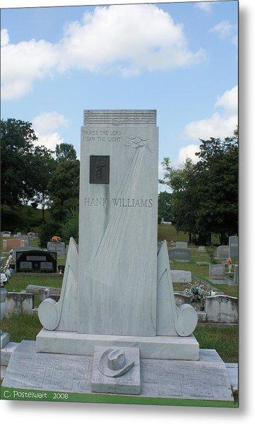 Hank Williams Sr. Headstone Metal Print by Carolyn Postelwait
