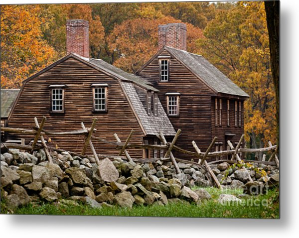 Hartwell Tarvern In Autumn Metal Print