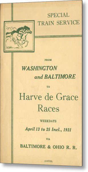 Harve De Grace Races Metal Print