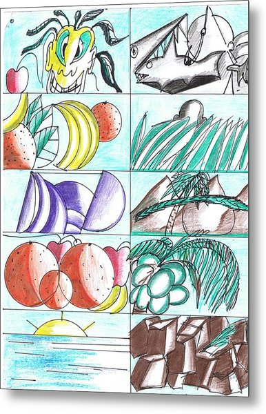 Having Fun Drawing  Metal Print by HPrince De Artist
