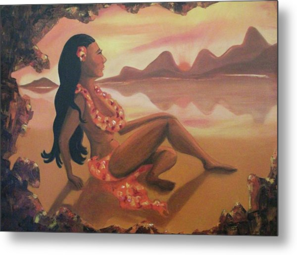 Hawaiian Girl Metal Print by Suzanne  Marie Leclair