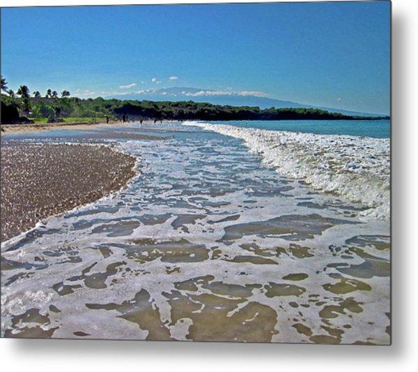 Hawaiian Landscape Of Hapuna Beach Metal Print