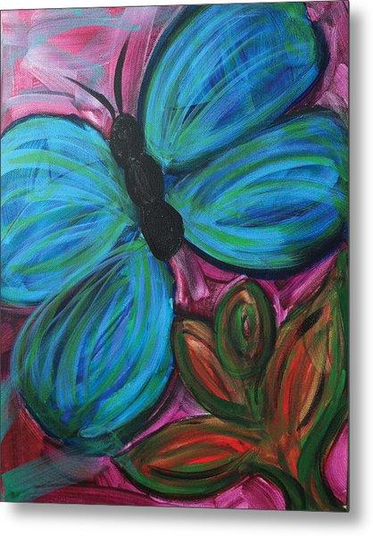 Healing Rain Butterfly Metal Print by Bethany Stanko
