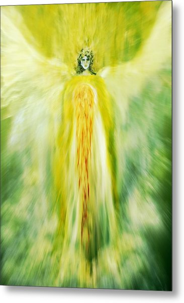 Healing With Golden Light Metal Print