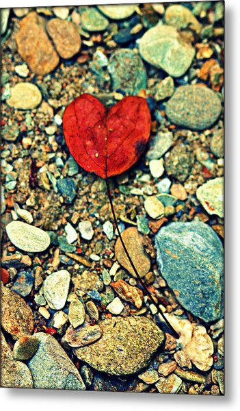 Heart On The Rocks Metal Print