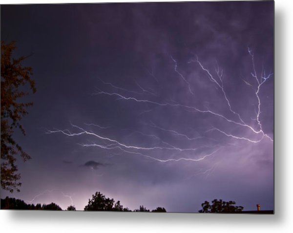 Heat Lightning Metal Print