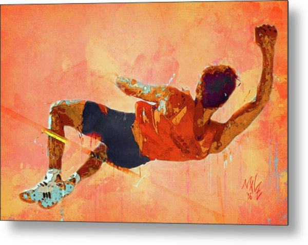 High Jumper Metal Print