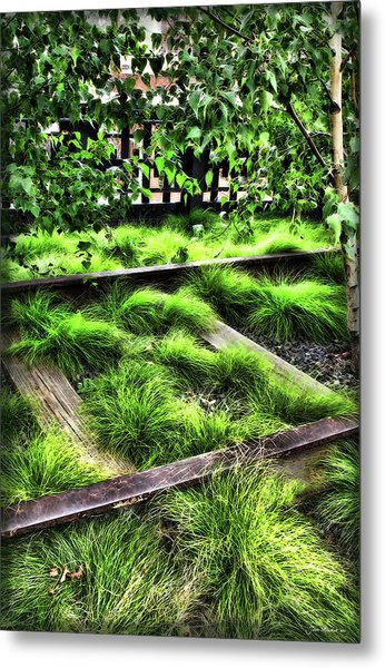High Line Nyc Railroad Tracks Metal Print