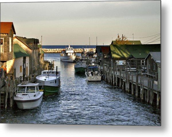 Historic Fishtown Docks Metal Print