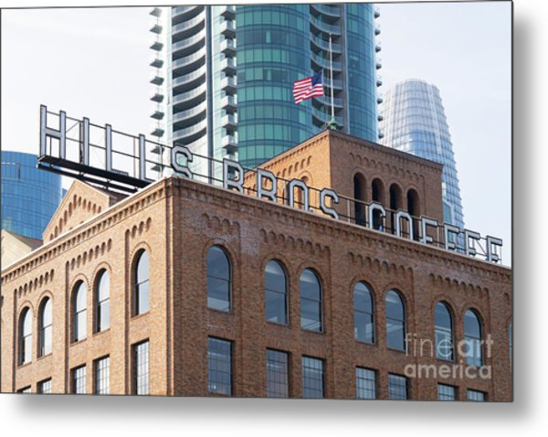 Historic Hills Brothers Coffee Building With Sign San Francisco Dsc5745 Metal Print