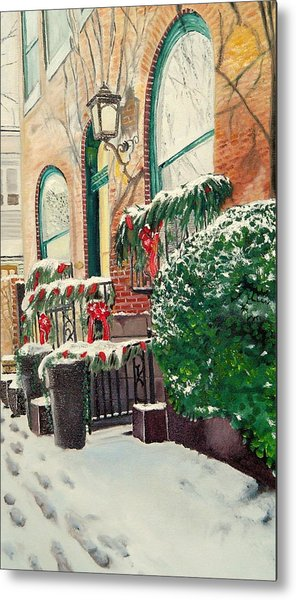 Holiday In The City Metal Print by John Schuller