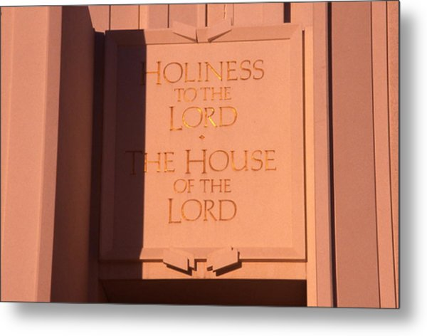 Holiness To The Lord Metal Print by Cynthia Cox Cottam