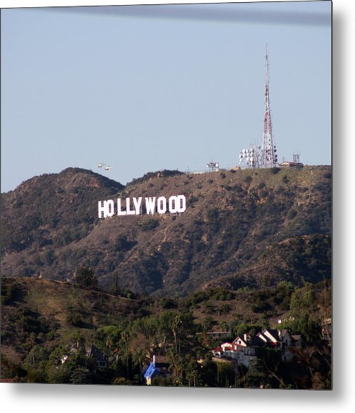 Hollywood And Helicopters Metal Print