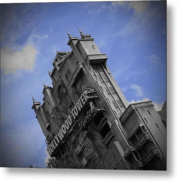 Hollywood Studio's Tower Of Terror Metal Print