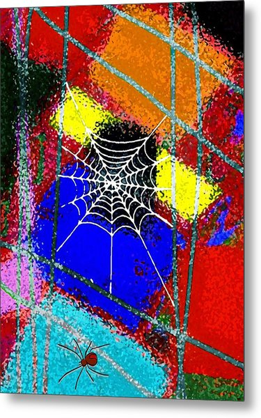 Home Sweet Spider Home Metal Print by Mimo Krouzian