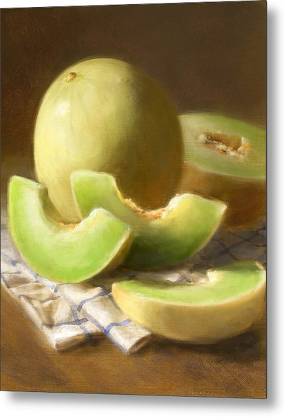 Honeydew Melons Metal Print