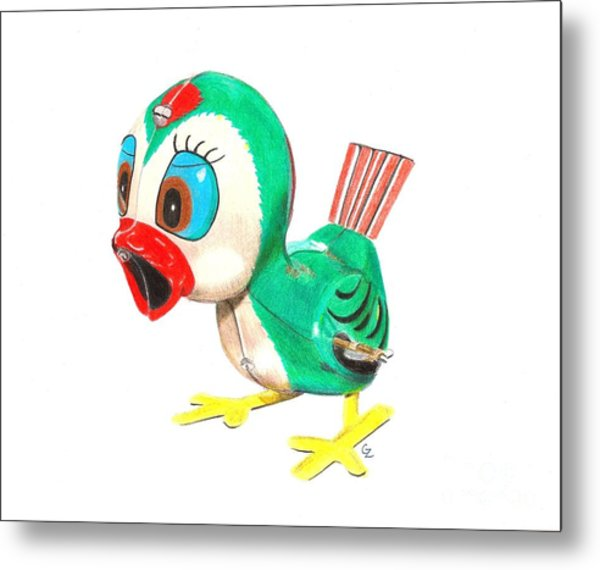 Hopping Billy The Bird Metal Print
