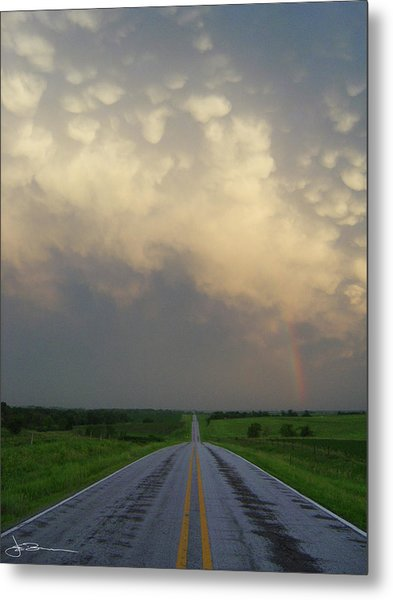 Horizon - Turn Right Metal Print