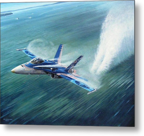 'hornet 20th Anniversary Over Myall Lake Nsw' Metal Print