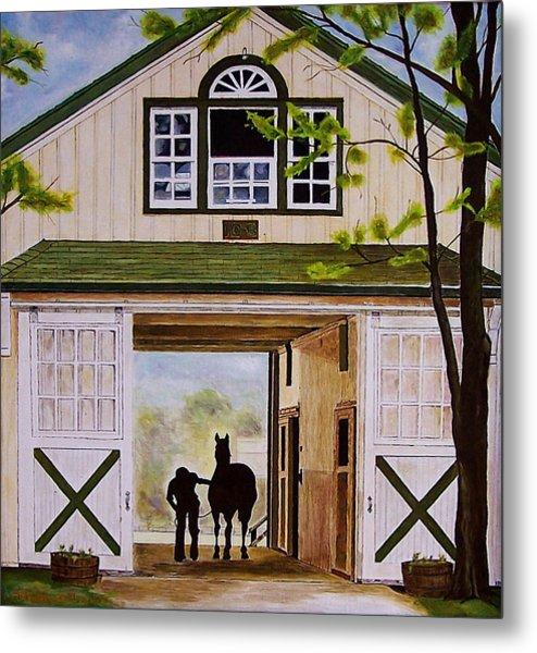 Horse Barn Metal Print by Michael Lewis