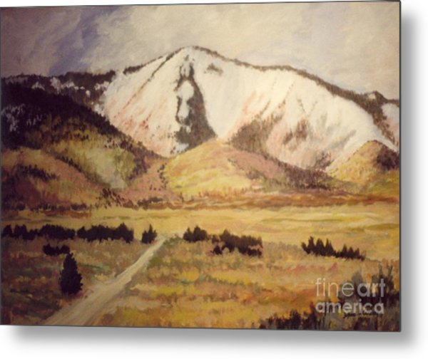 Horse Head Mountain Metal Print by JoAnne Corpany