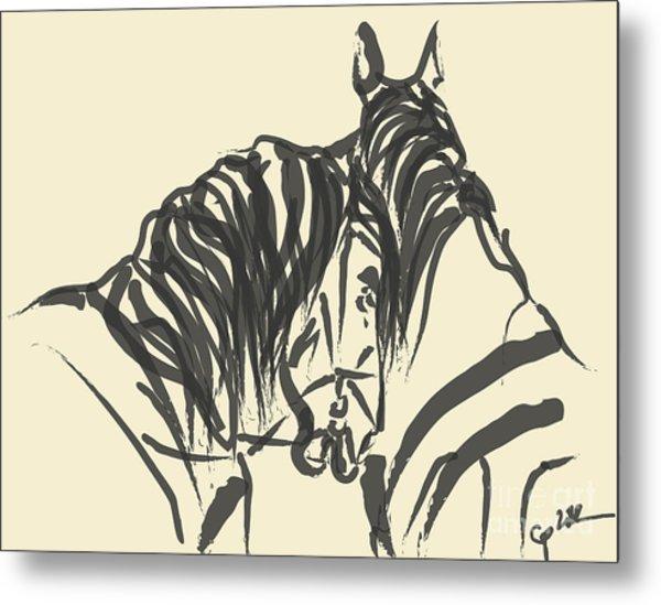 Horse - Together 9 Metal Print