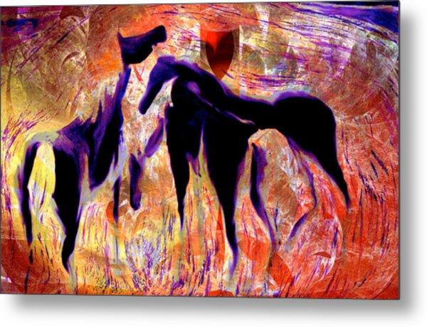 Horses 8 Metal Print