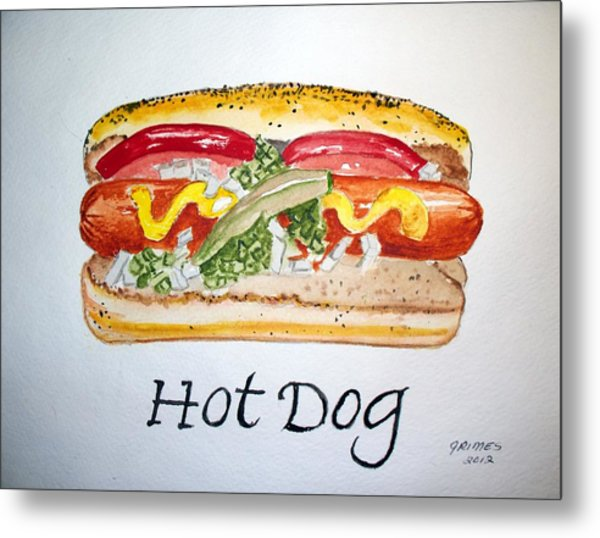 Hot Dog Metal Print